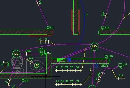 projeto eletrico autocad