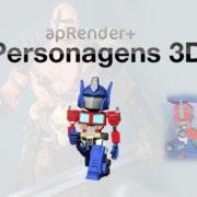 apRender_Personagens 3D-slideshow